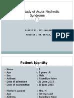 Presentation of Nephrotic Syndrome Acute