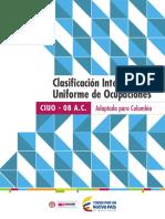 Clasificación Internacional Uniforme de Ocupaciones - Adaptada Para Colombia