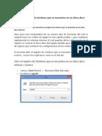 Entrar Al Registro de Windows Que Se Encuentra en Un Disco Duro Externo