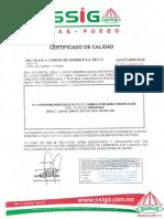 Certificado de extintores