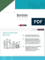 Curriculo Nacional - Implementación y Definiciones Claves
