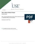 Sites of Micro-Political Theatre by Dorinda Hulton