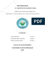 Mini Research English Economics About Economic Growth in Jokowi's Era
