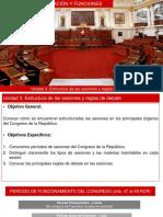 organización y funciones del congreso