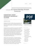 Parenting Mind Berhenti Membuat Alasan Catatan Mardigu WP