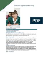 How to Write a Good Argumentative Essay Introduction.docx