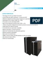 Especificaciones tecnicas de UPS