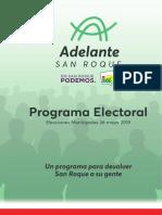 Programa Electoral Adelante San Roque