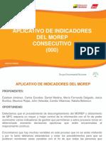 Aplicativo de Indicadores y Oee Del Morep