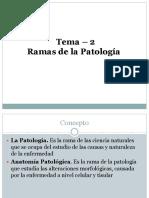 Patologia Tema 2 Ramas de La Patologia 20018