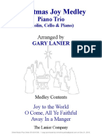 CHRISTMAS JOY MEDLEY Trio Violin Cello Piano With Parts