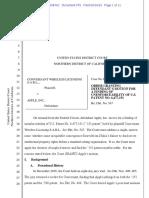 19-05-10 Order Holding Late-disclosed Nokia-Conversant Patent Unenforceable