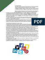 Qué son las redes sociales o Social Media.docx