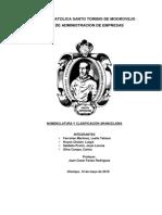 Nomenclatura y clasificacion Arancelaria.docx