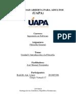 Filosofia General - Unidad I - Introduccion a la Filosofia.docx