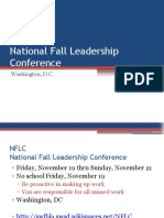 National Fall Leadership Conference Notes