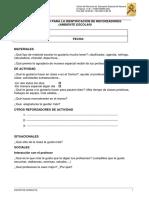Cuestionario IDENTIFICACIÓN REFORZADORES