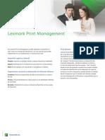 Datasheet Lexmark Print Management