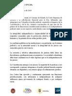 Comunicado Corte Constitucional, Consejo de Estado y JEP