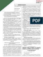 RESOLUCION SUPREMA N° 087-2019-PCM