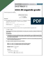 INECUACIONES DE SEGUNDO GRADO