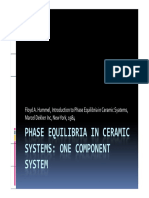 Phase Equilibria in Ceramic Systems
