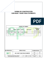 Subbase y Base Para Pavimento NC MN OC05 02