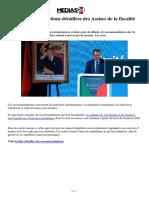 Les Recommandations Détaillées Des Assises de La Fiscalité