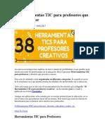 38 Herramientas TIC Para Profesores Que Debes Conocer