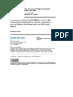 ASFORA, Wanessa. Reflexões teóricas e metodológicas acerca dos manuscritos medievais de De re coquinaria para a história da alimentação na Alta Idade Média.pdf