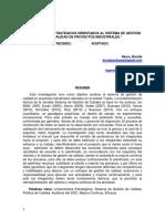 Lineamientos estrategicos orienados al sistema gestion de calidad de proyectos industriales