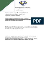 copy of community service reflection