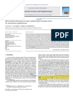Deformation behaviour of spot-welded high strength steels for automotive applications