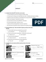 UNIT 05 TV Activity Worksheets
