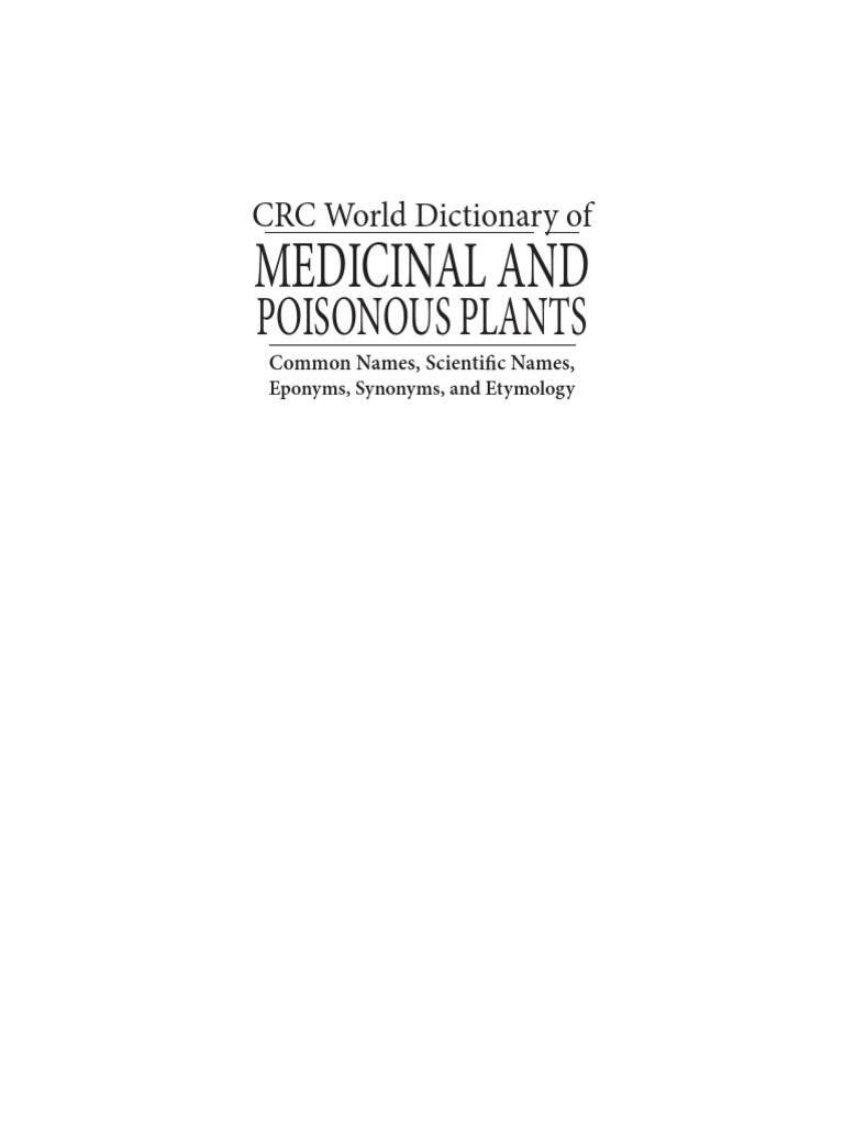 589633da86 Medicinal and Poisonous Plants.pdf   Genus   Copyright