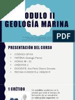 MODULO II_GEOLOGIA MARINA_PRESENTACIÓN DEL CURSO