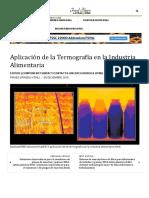 Aplicación de La Termografía en La Industria Alimentaria