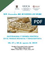 Circular Jornadas de Iustitia Et Iure 2019