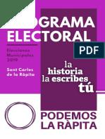 Podemos La Ràpita Programa Electoral - Elecciones Municipales 2019 · Sant Carles de la Ràpita