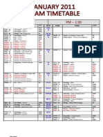 ECS Jan 2011 Exam Timetable