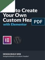 Elementor Custom Header Cheatsheet