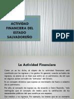 Actividad Financiera Del Estado Salvadoreño