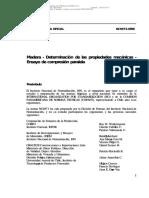 Nch 973 Of1986 Madera Determinacion de Las Propiedades Mecanicas Ensayo de Compresion Paralela