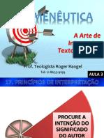 Hermenêutica - Aula 3
