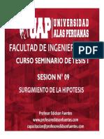 Sesion 09 Surgimiento de La Hipotesis (1)