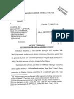 Motion to Dismiss Case No. CL19001715-00 (Nunes v. Twitter)