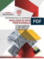 TABULADOR SALARIOS PROFESIONALES 2017