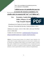 """Ponencia - El difícil acceso a la jurisdicción para las personas con escasez de recursos económicos. Un estudio entre la urgencia del """"ser"""" y el """"deber ser"""". (Fernández, Müller, Volpe)."""