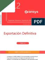 Capítulo 13.2- Exportacion Definitiva