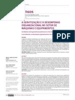 A Servitizacao e o Desempenho Organizacional No Setor de Maquinas e Equipamentos